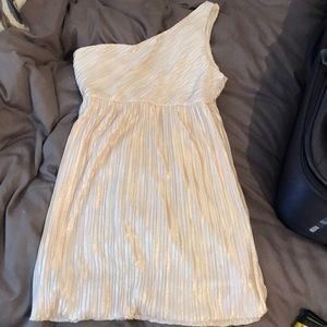 One shoulder,gold sparkly forever 21 dress.Size  M